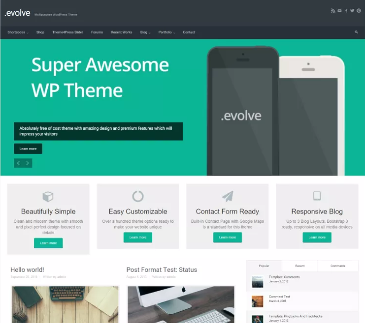 10 of the Most Popular Free WordPress Themes