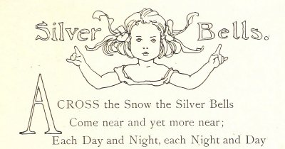 Silver Bells Poem. Showing a drop cap
