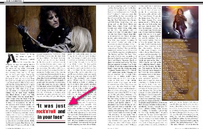 Alice Cooper in Rolling Stone
