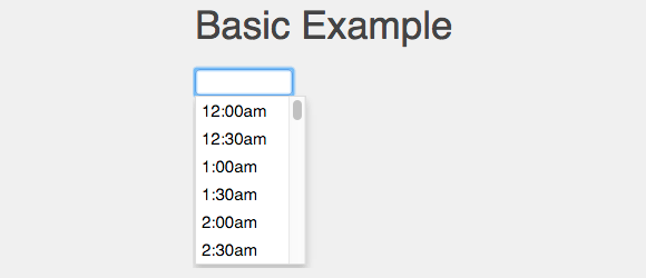 jquery.timepicker example