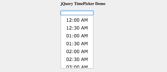 10 jQuery Time Picker Plugins — SitePoint