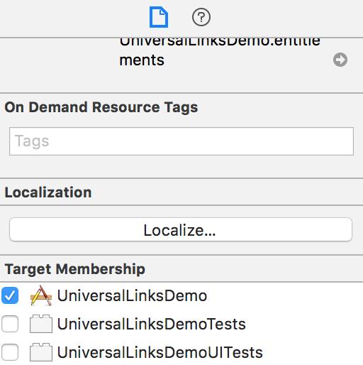 App Target Membership