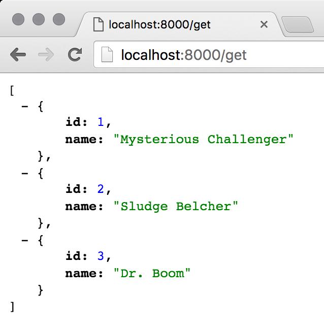 Initial JSON output