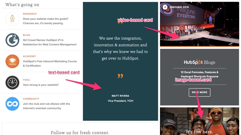 HubSpot's card-based video