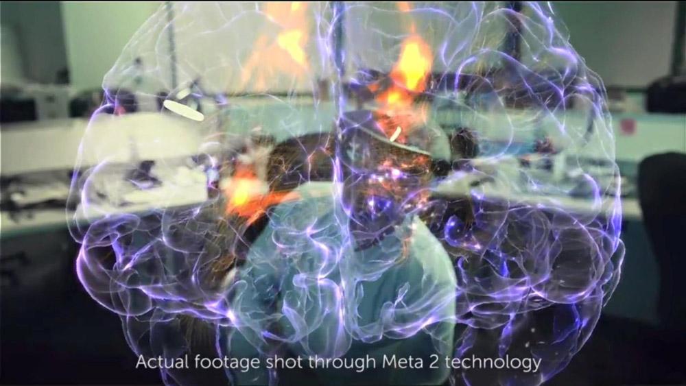 Meta 2 high definition display example