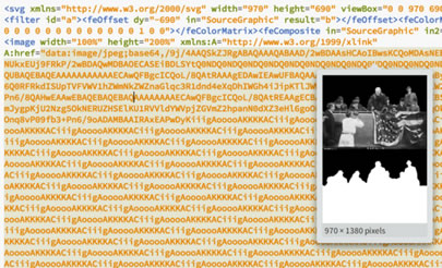 Brackets live preview of the encoded image