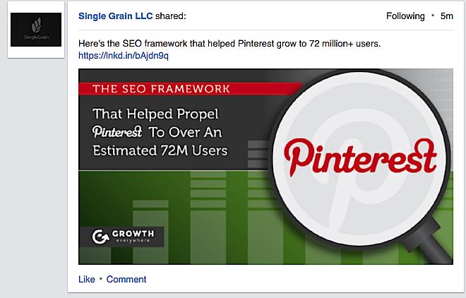LinkedIn Large Image Ad