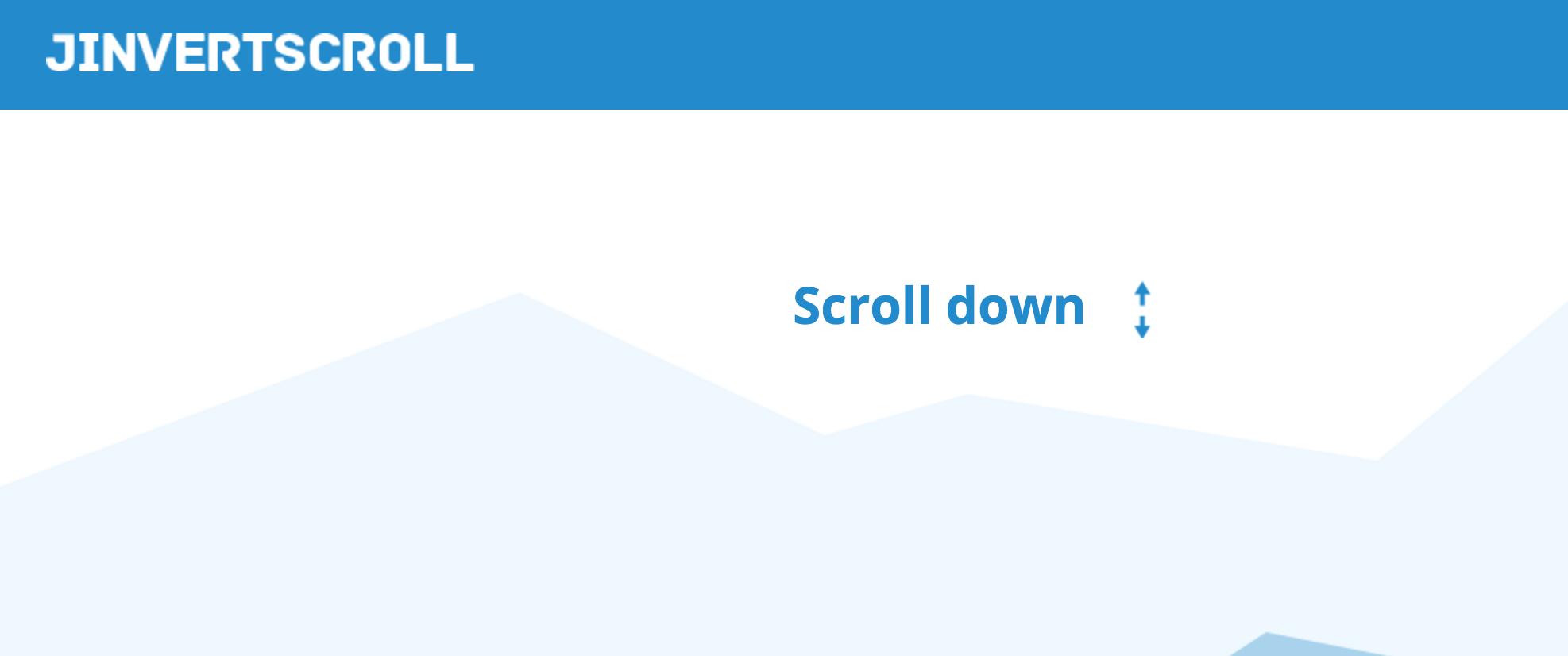 Screenshot of jInvertScroll homepage