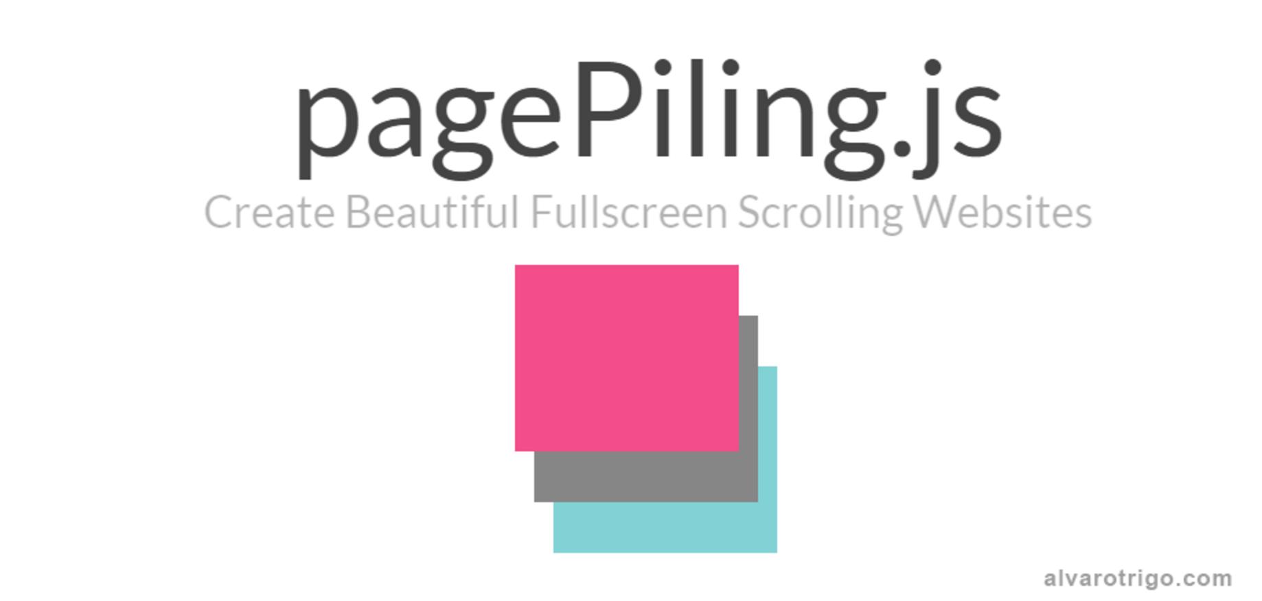 Screenshot of pagePiling.js homepage