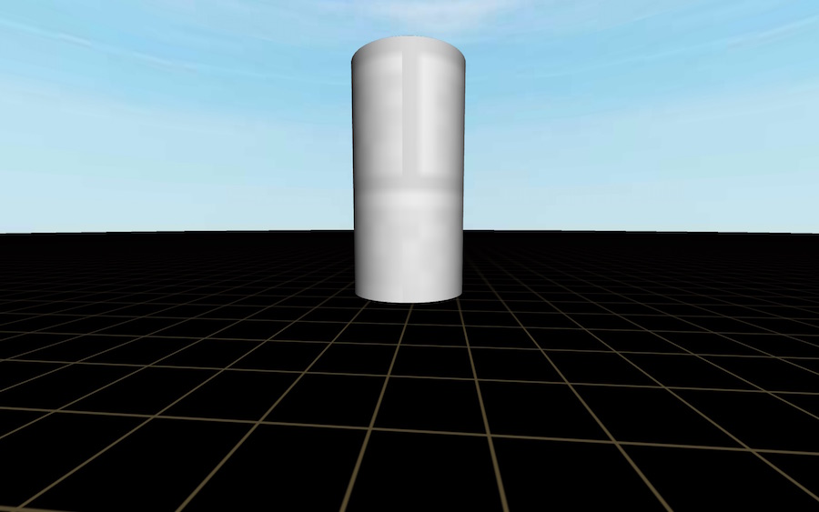 A cylinder in our scene
