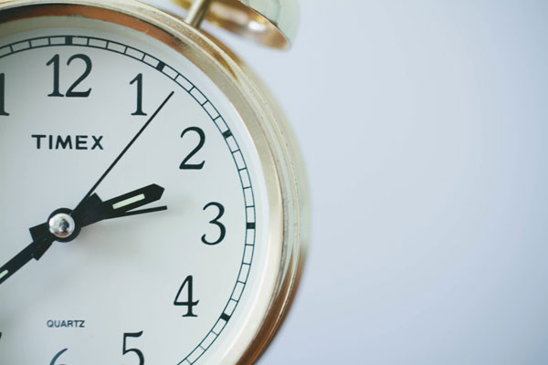 Stock photo of clock indicating a ticking timepiece