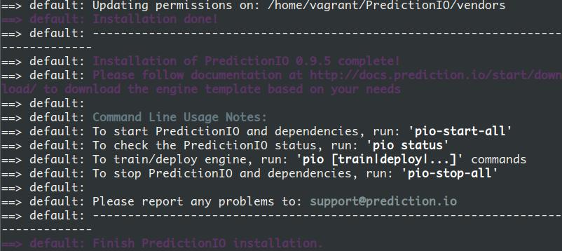 predictionIO install complete