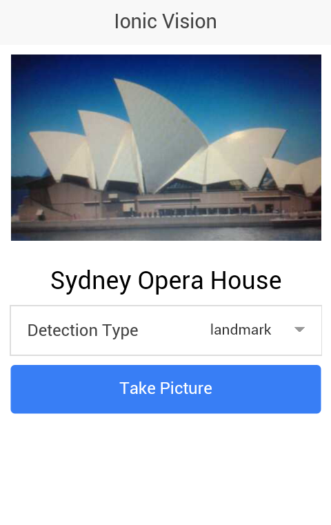 Image Recognition with the Google Vision API and Ionic