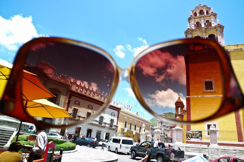 Sunglasses as a lens