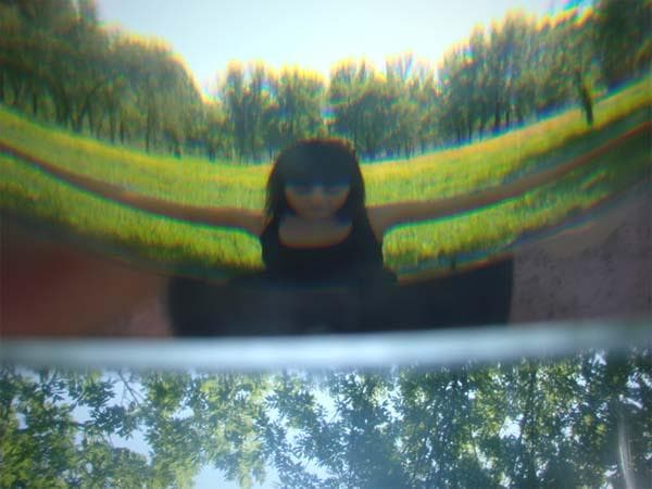 Photo taken through crystal prism