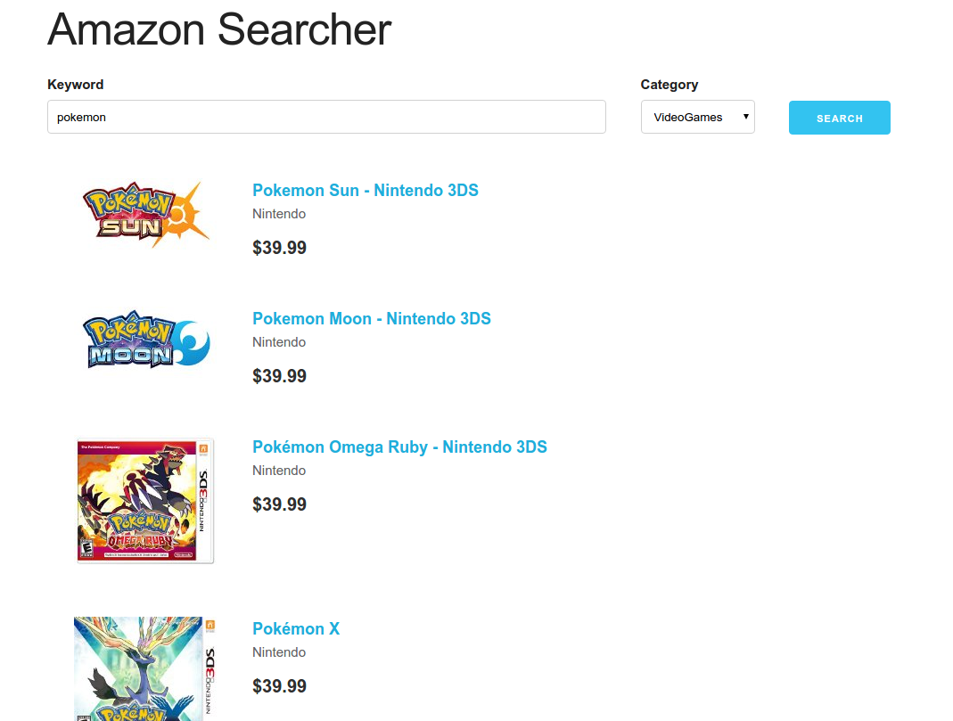 amazon searcher