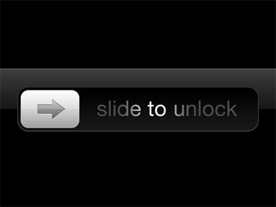 the good old iphone 'slide to unlock'