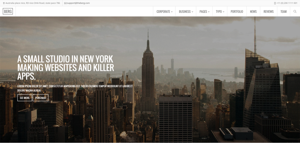 Berg Multipurpose Theme