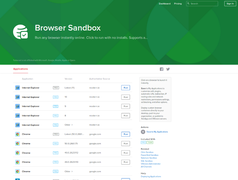 Browser Sandbox