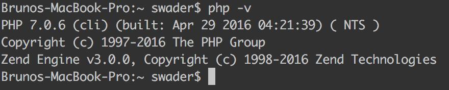 PHP 7 running on OS X
