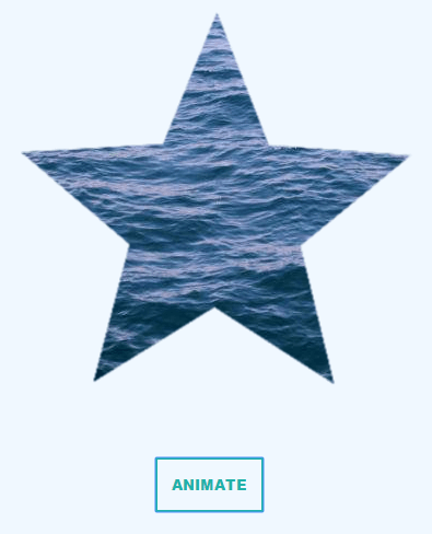 Animating a star-shaped masked image with CSS.