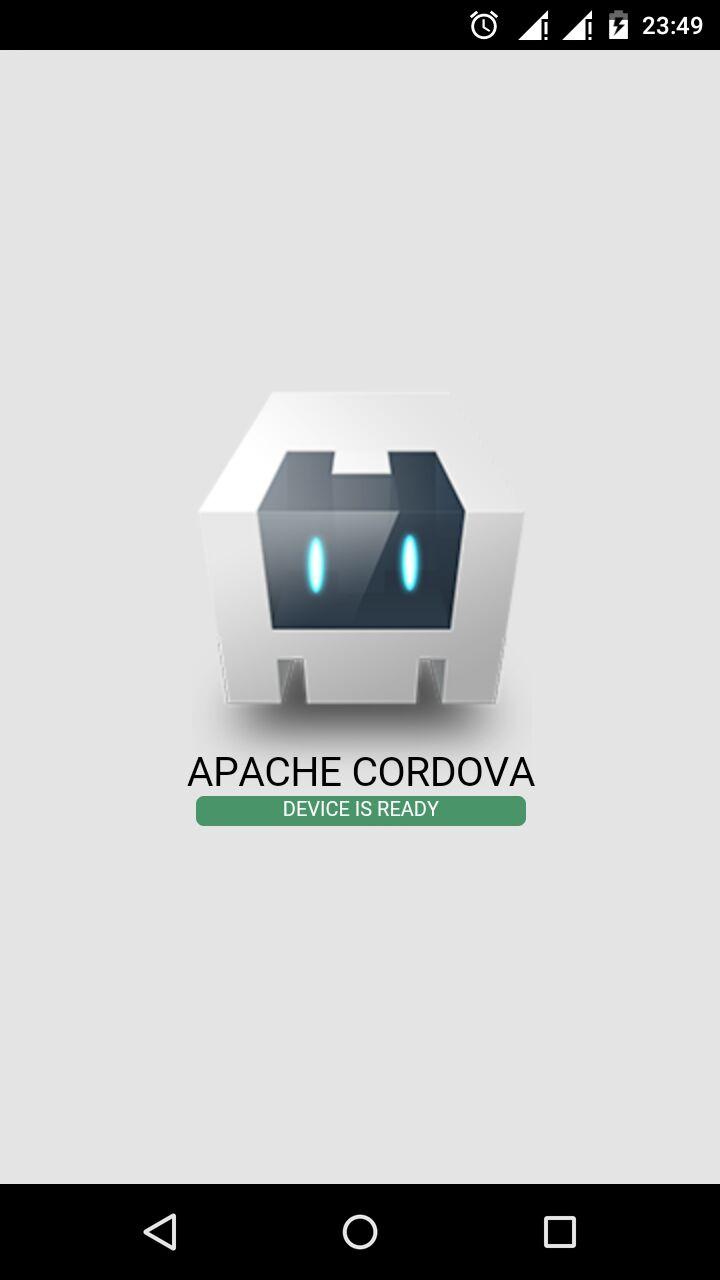 Default Cordova Mobile App