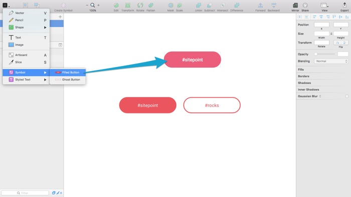 Inserting New Instances Into the Working Canvas