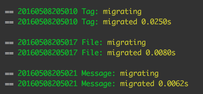 Successful migration of all three files