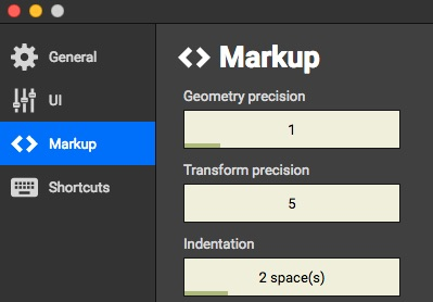Markup precision controls