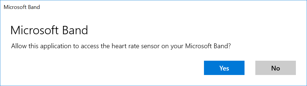 Heart rate consent on Windows