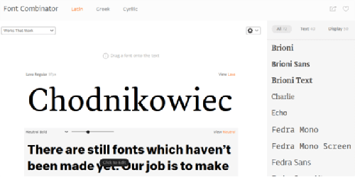 Font Combinator website.