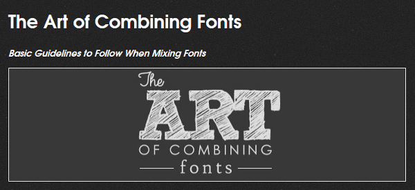 The Art of Combining Fonts infographic