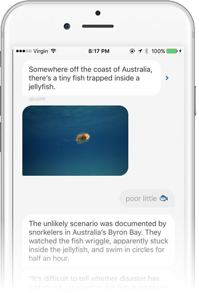 Quartz app: Conversational UIs as News