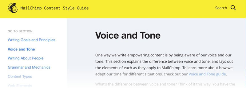 MailChimp's Voice & Tone Style Guide