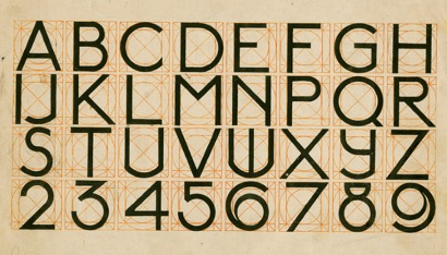 J.L.M. Lauweriks. Alphabet, [1900]. NAI Collection