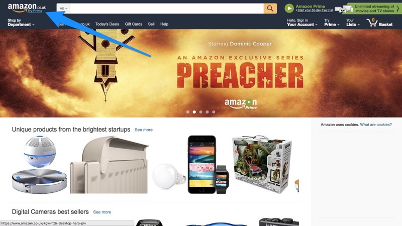 Amazon Logo Advert