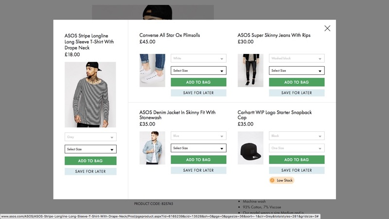 ASOS Outfit Personalization