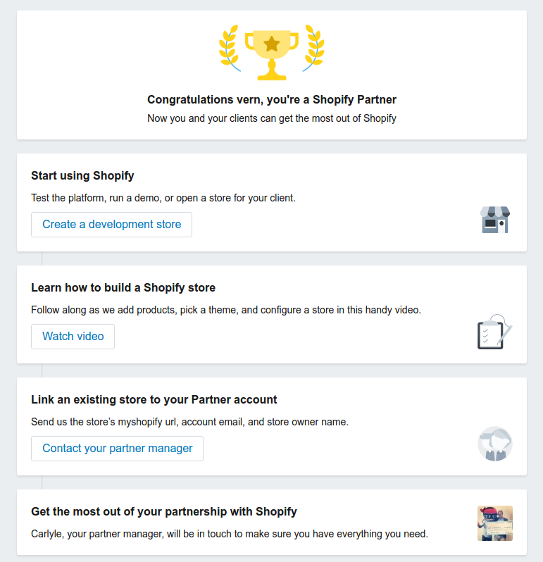 Shopify Partner Success Page