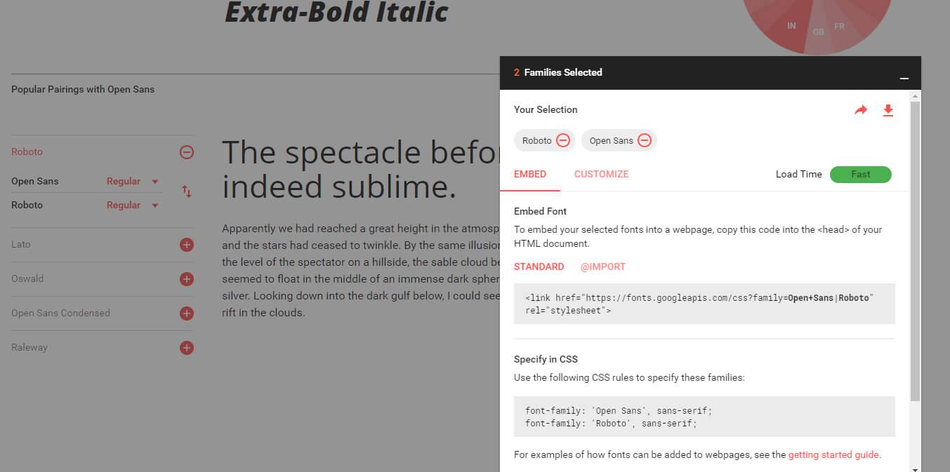 Font Configuration Panel
