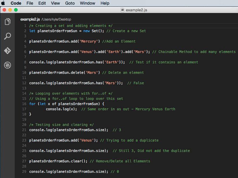 Example code - 2