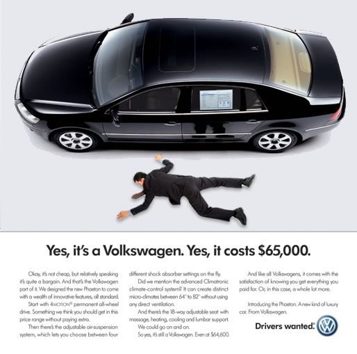 Our reconfigured VW ad