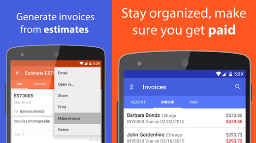 Invoice and Estimates on the Go
