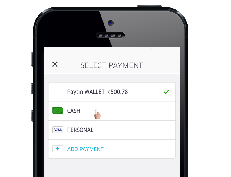 Uber payment function
