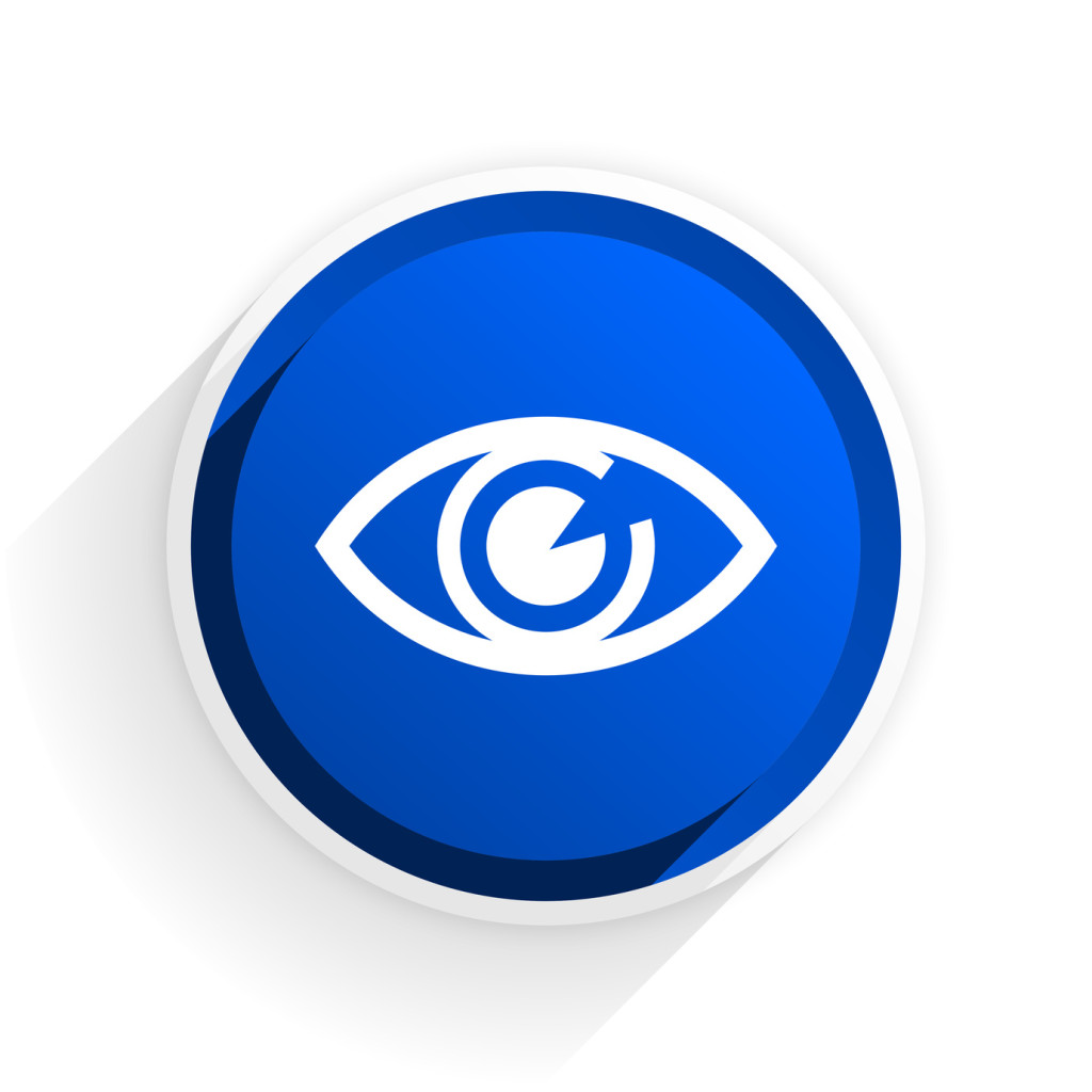 Vector icon with eye