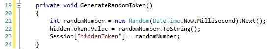 random token