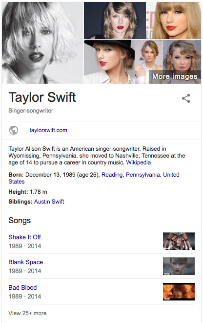 Taylor Swift Knowledge Graph