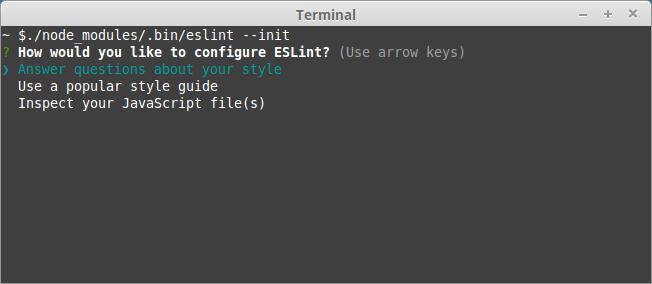 How would you like to configure ESLint?