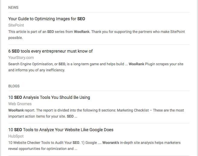Google Alerts preview