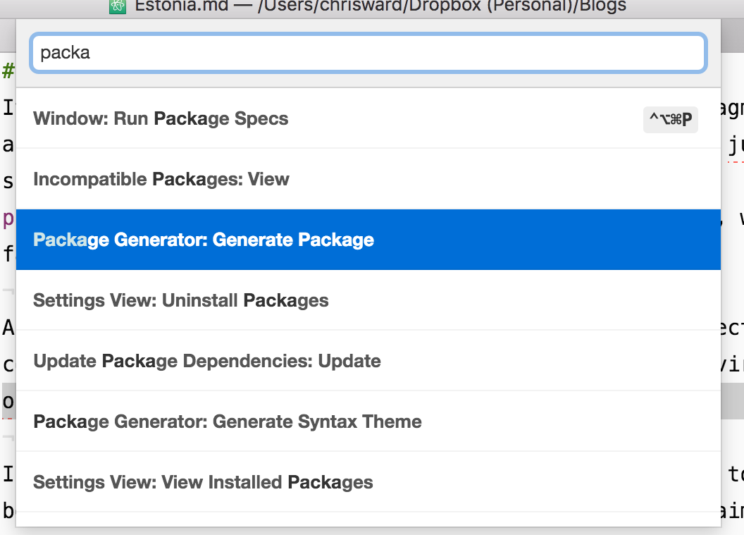 Generate Package