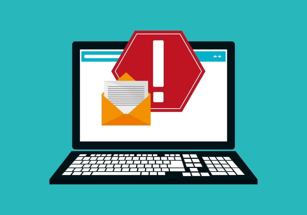 Illustration of blocked email